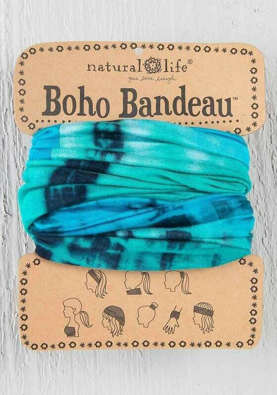 Turquoise & Blue Tie-Dye Boho Bandeau