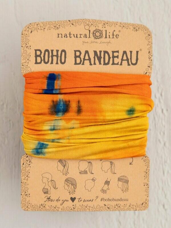 Orange & Yellow Tie-Dye Boho Bandeau