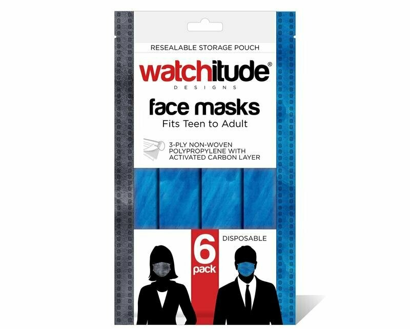 6 pk, Adult Mask - Slate/Ocean