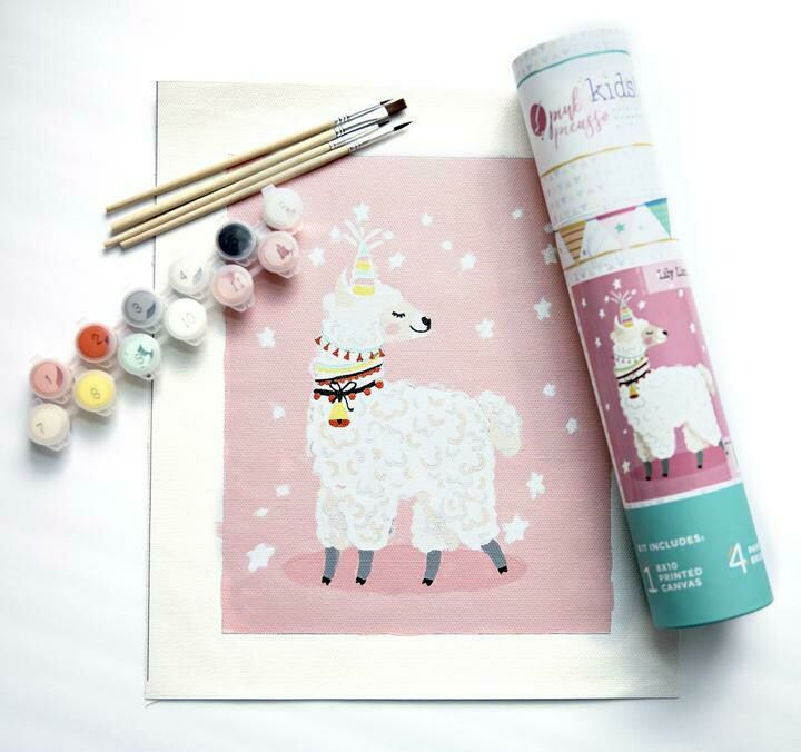 Lily Llamacorn Kids Paint by Numbers Kit