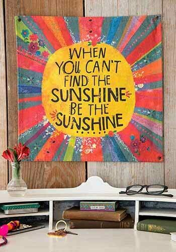 When You Can't Find The Sunshine Mini Canvas Tapestry