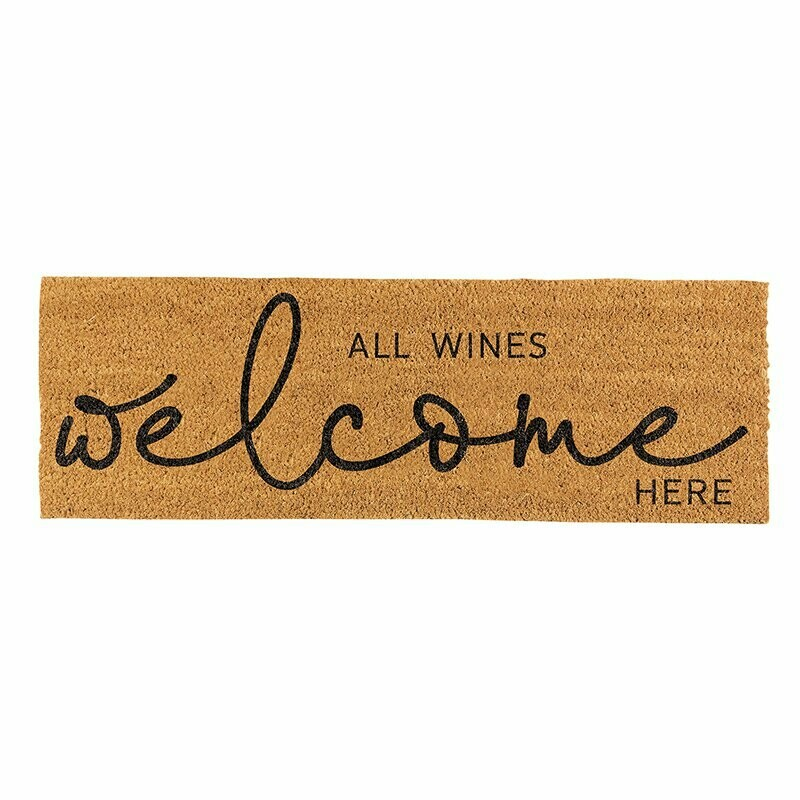 All Wines Welcome Here Coir Door Mat