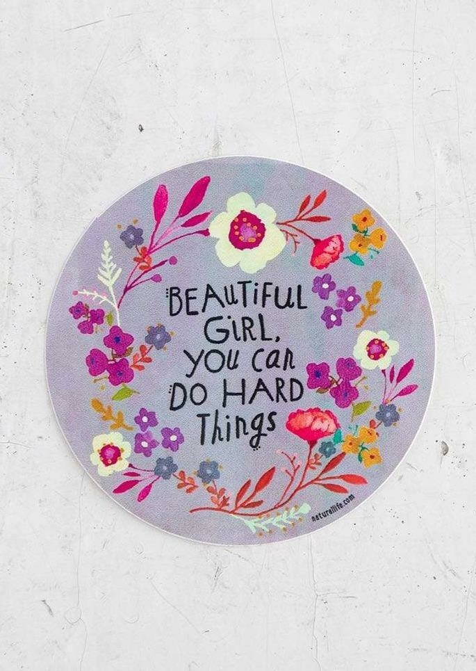 Beautiful Girl Gray Vinyl Sticker