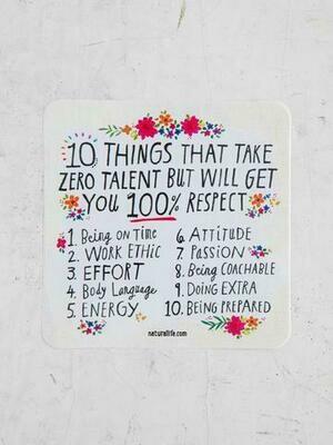 10 Things That Take Zero Talent Sticker