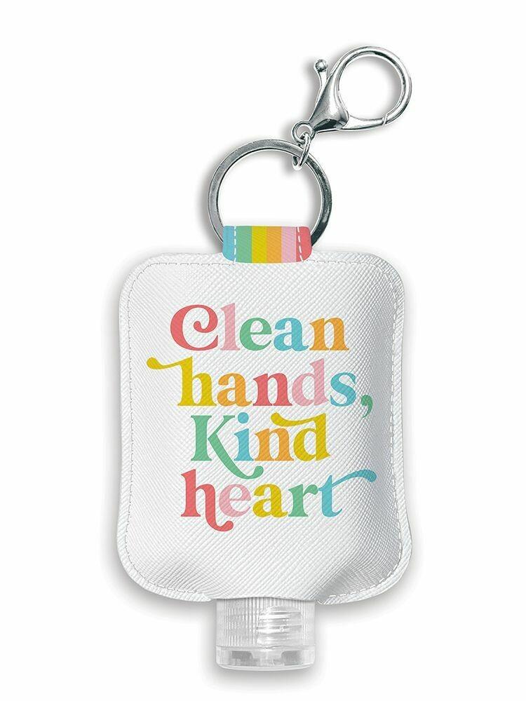 Clean Hands Kind Heart Hand Sanitzer Holder