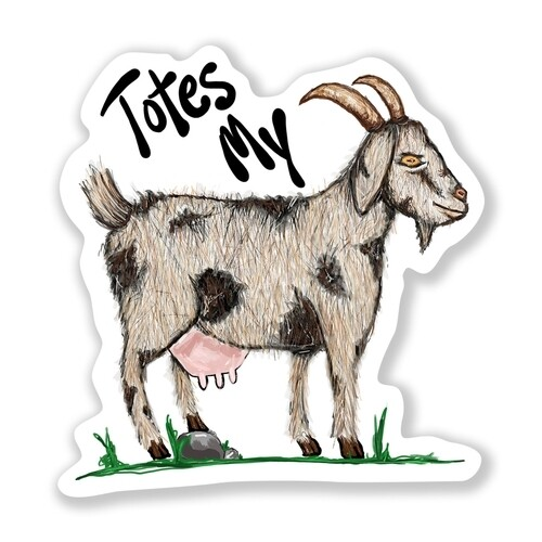 Totes My Goat Sticker