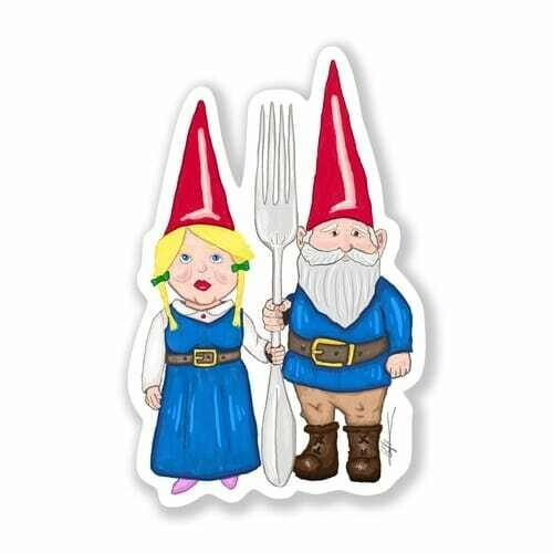 Gothic Gnomes Sticker