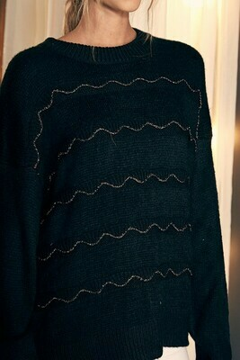 Metallic Detail Sweater
