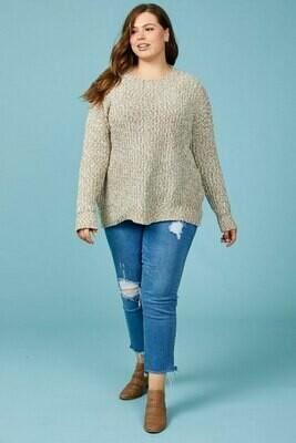 Chenille Taupe Hem Sweater