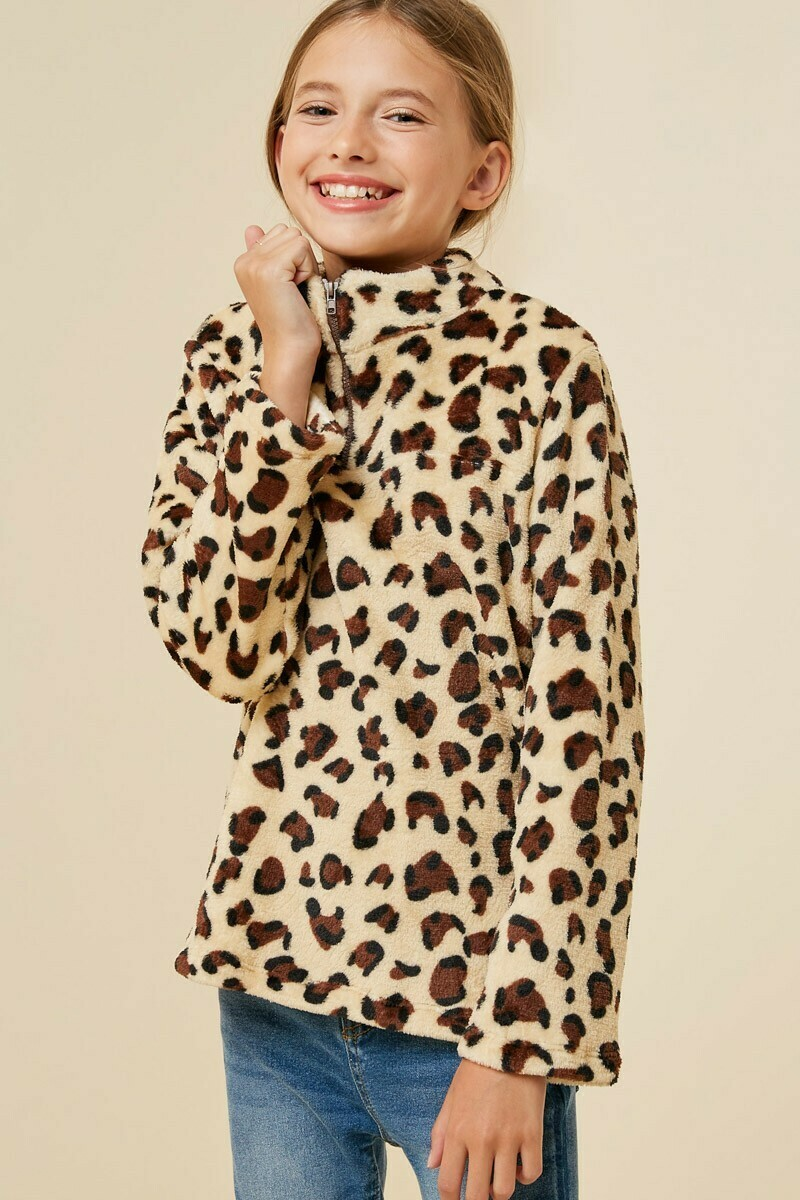 Girls Leopard Fleece