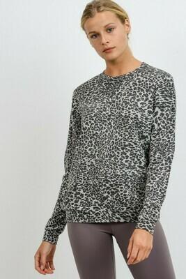 Leopard Pullover Crew