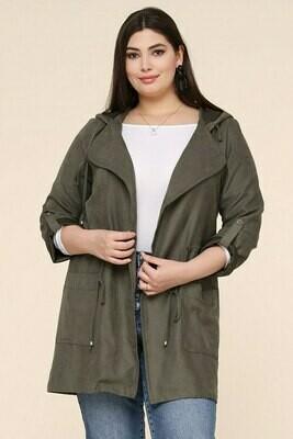 Olive Peach Skin Jacket