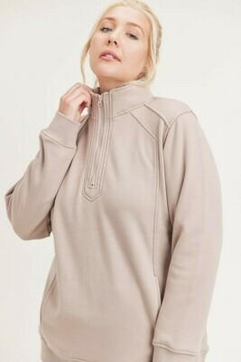 Curvy Half-Zip Sweatshirt