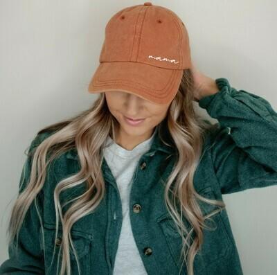 Mama Vintage Hat, Orange