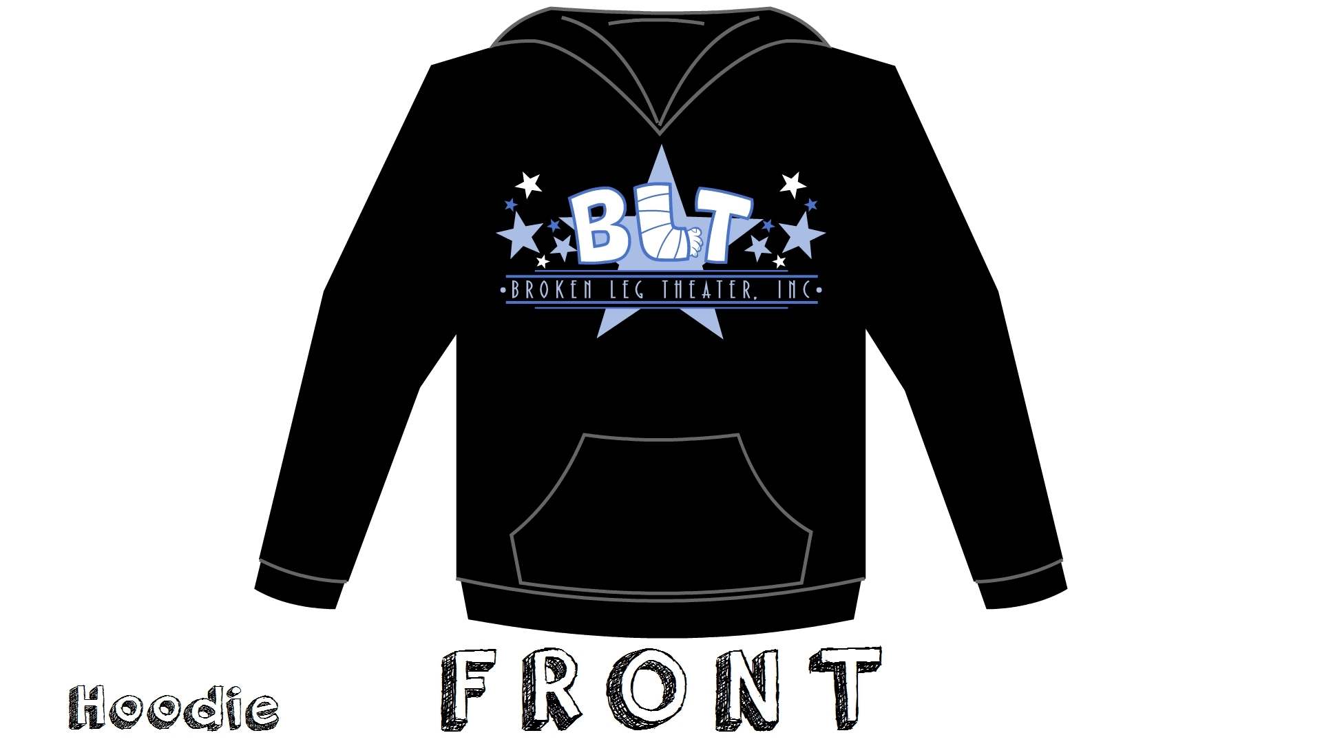 Hoodies -- Black BLT Logo 00002