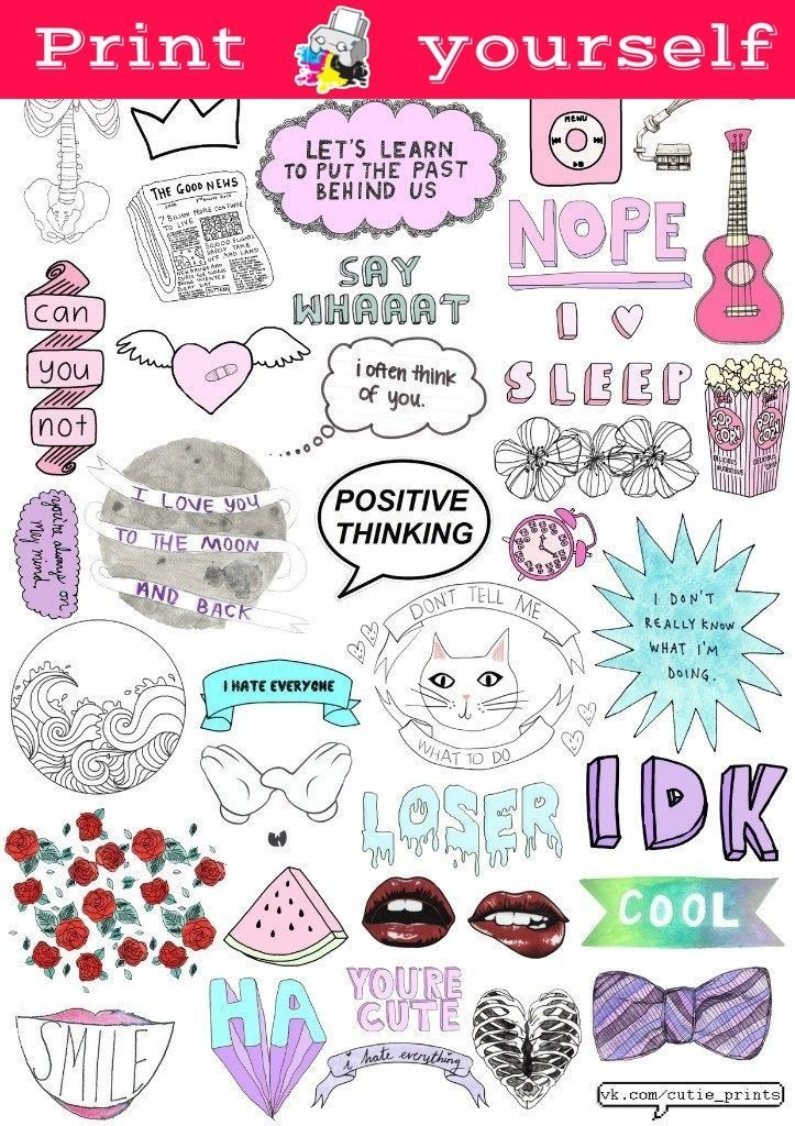 It is a picture of Satisfactory Printable Stickers Tumblr