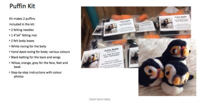 Puffin felt kit