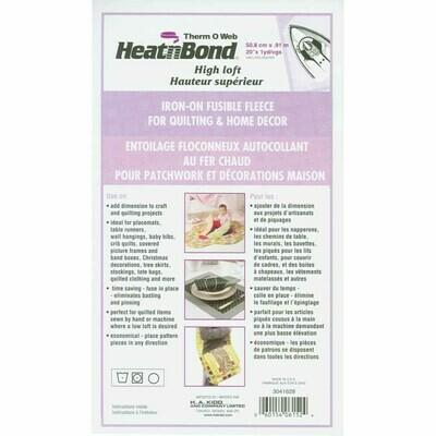 Heat N Bond High Loft Fusible Fleece