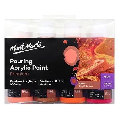Pouring Acrylic Paint 4pc Set Coral