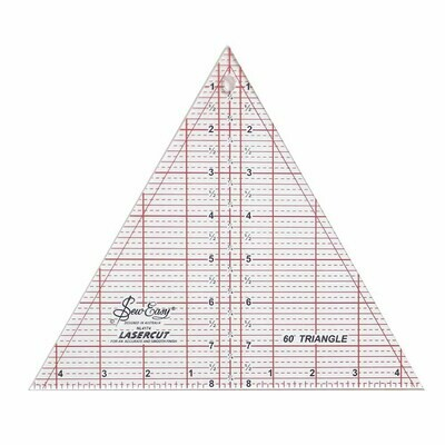 Sew Easy Triangle Ruler 60 Degrees 8 Inch