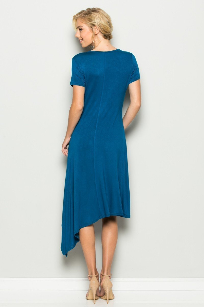 Bold and Beautiful Asymmetrical Dress