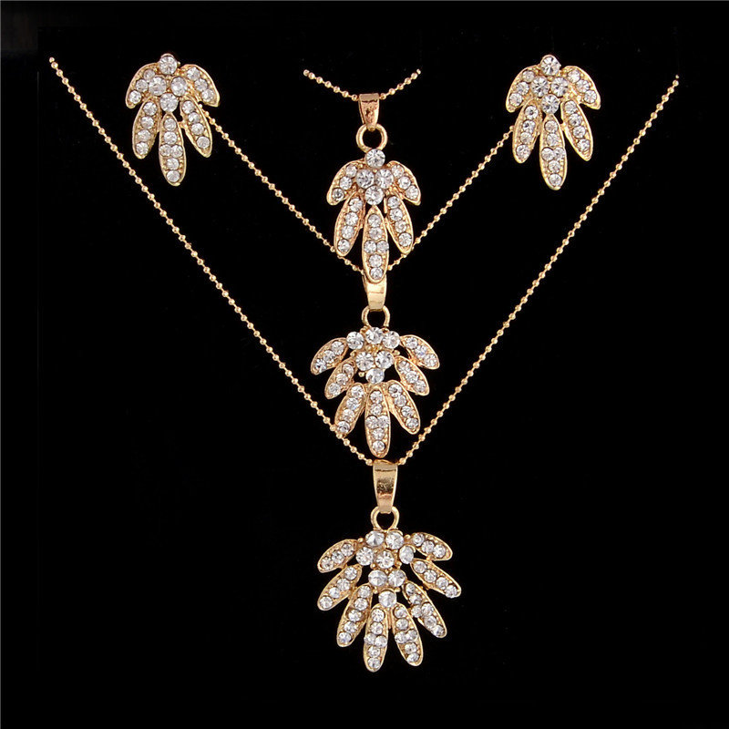 Austrian Crystal Triple Necklace Set 002200