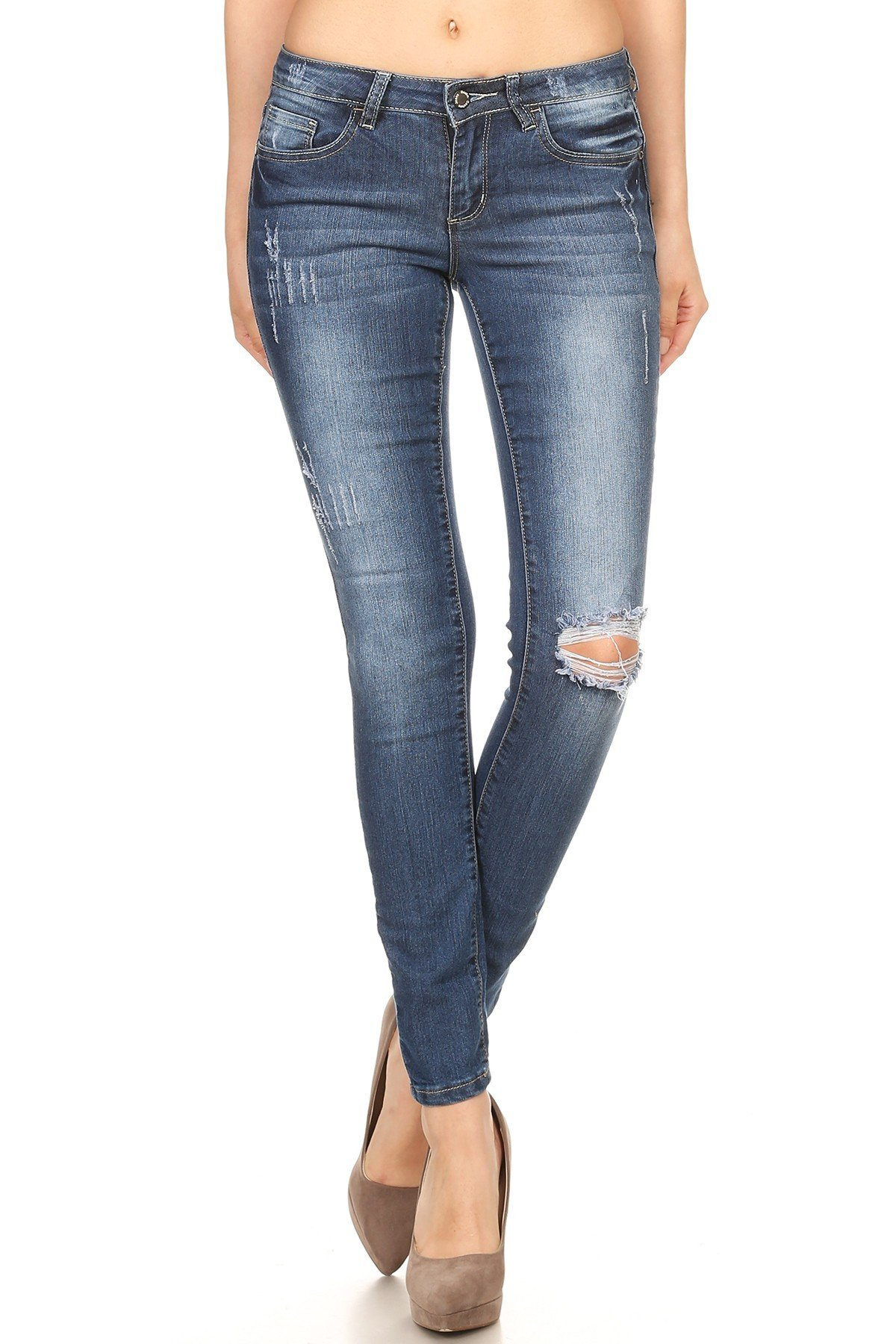 Denim Couture Destroyed Knee Jean 001122