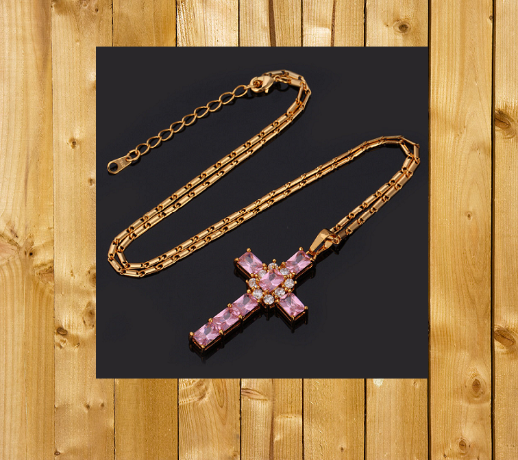 18KT Gold Plate Cross 881000