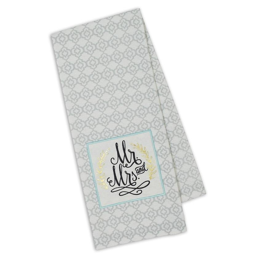 Mr and Mrs Embellished Towel MMET404