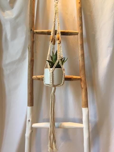 Single Pot Macrame Hanger SPMH011