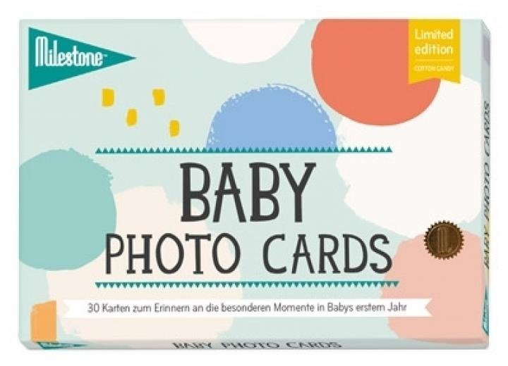 """Baby photo cards """"COTTON CANDY"""""""