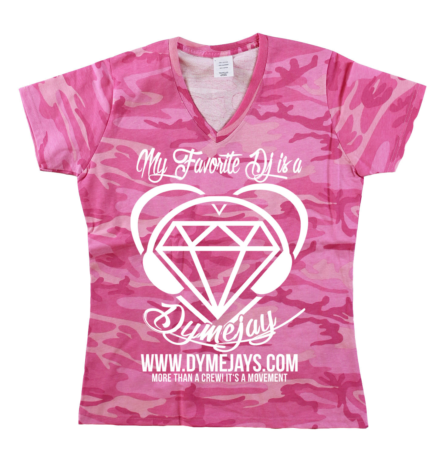 DymeJay Pink Camo Shirt DJPC1