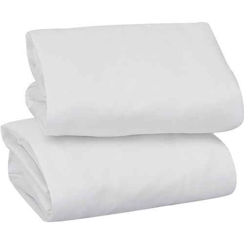 Keep Me Near Bassinet Sheets - White 2-Pack 00829
