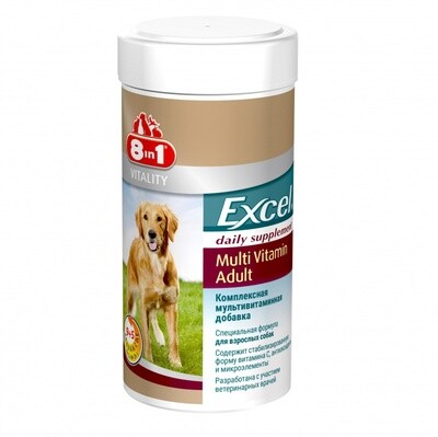 8in1 Excel Мультивитамины для взрослых собак 70 таб.