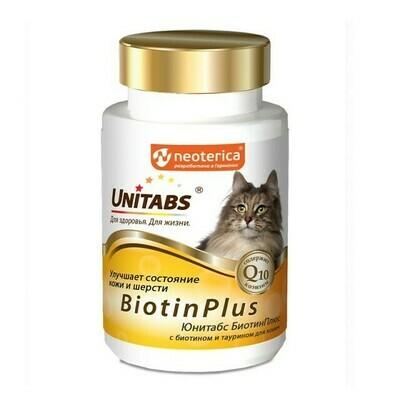 Экопром  Юнитабс витамины для кошек с биотином и таурином 120 таб.