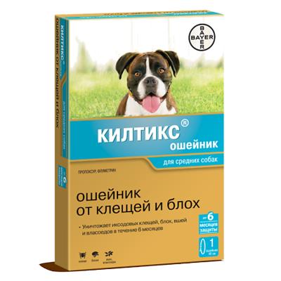Килтикс ошейник для средних собак от блох и клещей 48см
