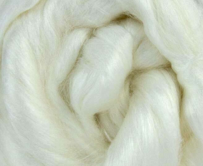 Iridescent Viscose Fiber -- Natural White