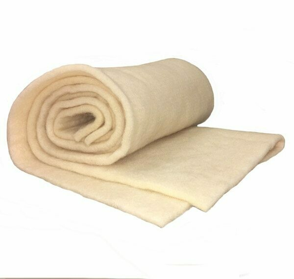 Merino wool  -- super thick prefelt batt -- Natural