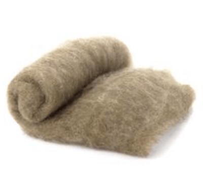 Merino Wool  -- Carded Batt --  Fawn