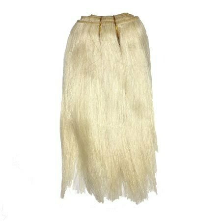 Mohair Doll Hair Weft -- Natural Undyed