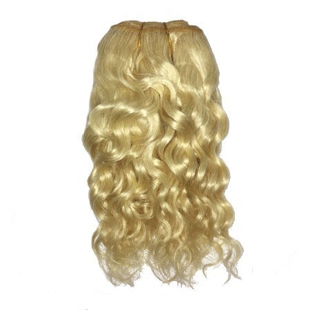 Mohair Doll Hair Weft -- Natural Curly