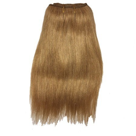 Mohair Doll Hair Weft -- Honey Brown