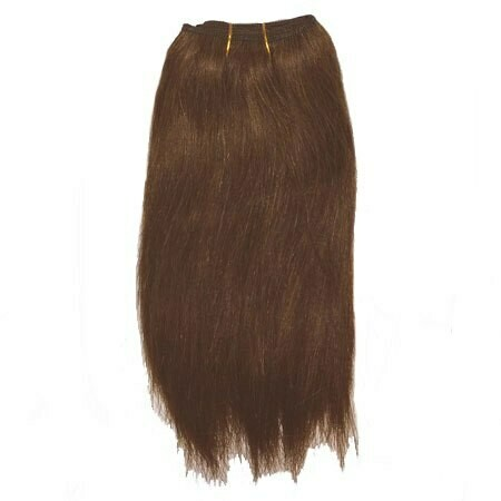 Mohair Doll Hair Weft -- Chocolate