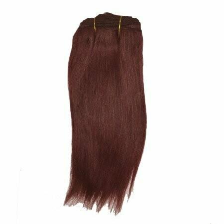 Mohair Doll Hair Weft -- Auburn
