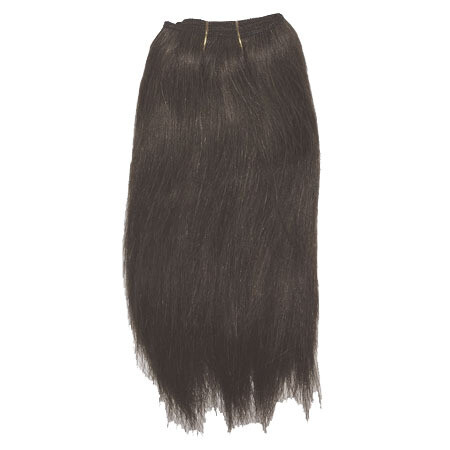Mohair Doll Hair Weft -- Dark Brown