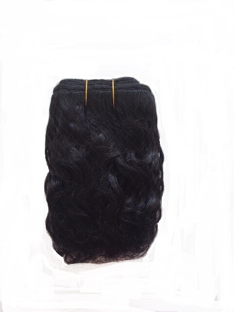 Mohair Doll Hair Weft -- Raven Curly