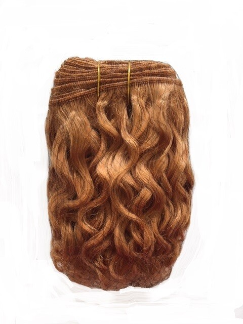 Mohair Doll Hair Weft -- Curly Ginger