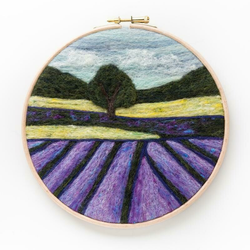 Lavender Fields Needle Felting Kit
