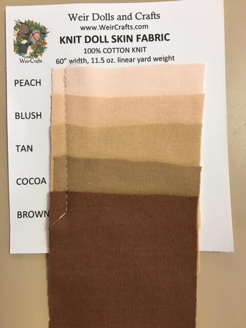 Knit Doll Skin Swatch Card