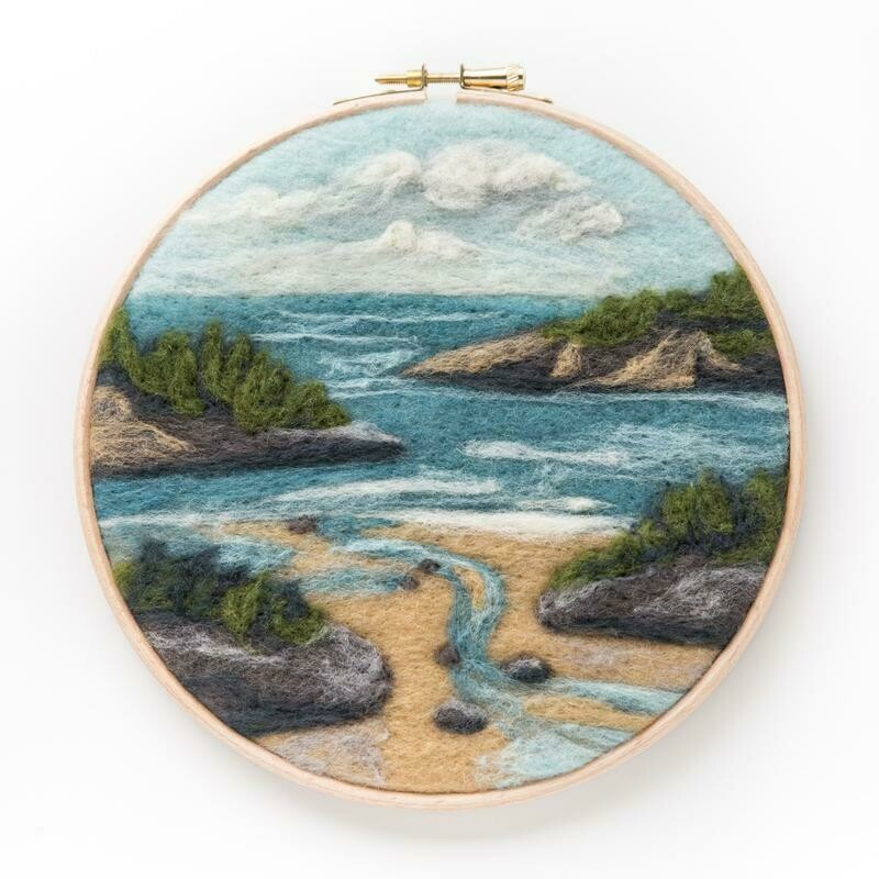 Coastal Waters Felting Kit